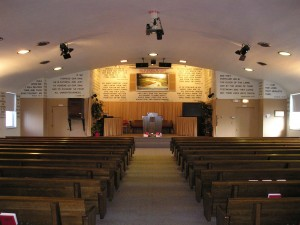 Inside of Hegewisch Baptist Church