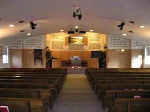 Inside of Hegewisch Baptist Church
